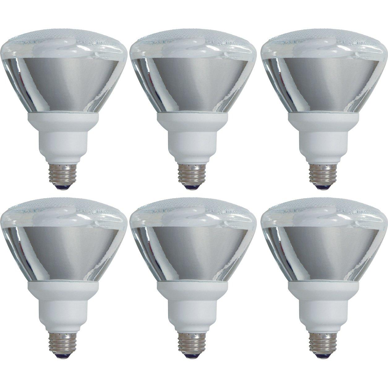 GE Lighting 80895 Energy Smart CFL 26-Watt (100-watt replacement) 1300-Lumen PAR38 Floodlight Bulb with Medium Base, 6-Pack