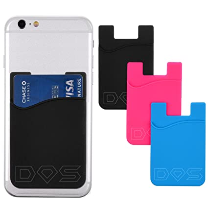 reputable site dfdb8 532bd Stick-On Wallet - ID/Credit Card Holder For Phones - Strong 3M Adhesive -  Universal Size fits most Phones (including iPhone 6s, 6, 5, Samsung Galaxy  ...