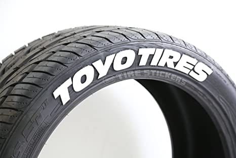 Toyo Tires White Letters >> Toyo Tires Tire Stickers Diy Permanent Tire Lettering Kit Custom Sizing Colors Pack Of 4