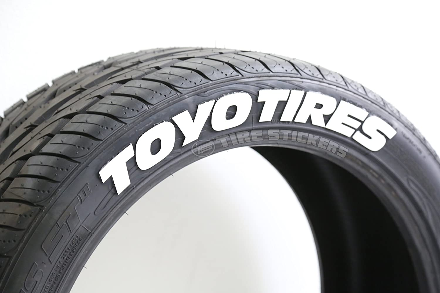 amazoncom toyo tires tire stickers diy permanent tire lettering kit custom sizingcolors pack of 4 automotive