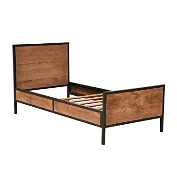 Homescapes Industrial Style Single Bed Frame 100 Solid Reclaimed