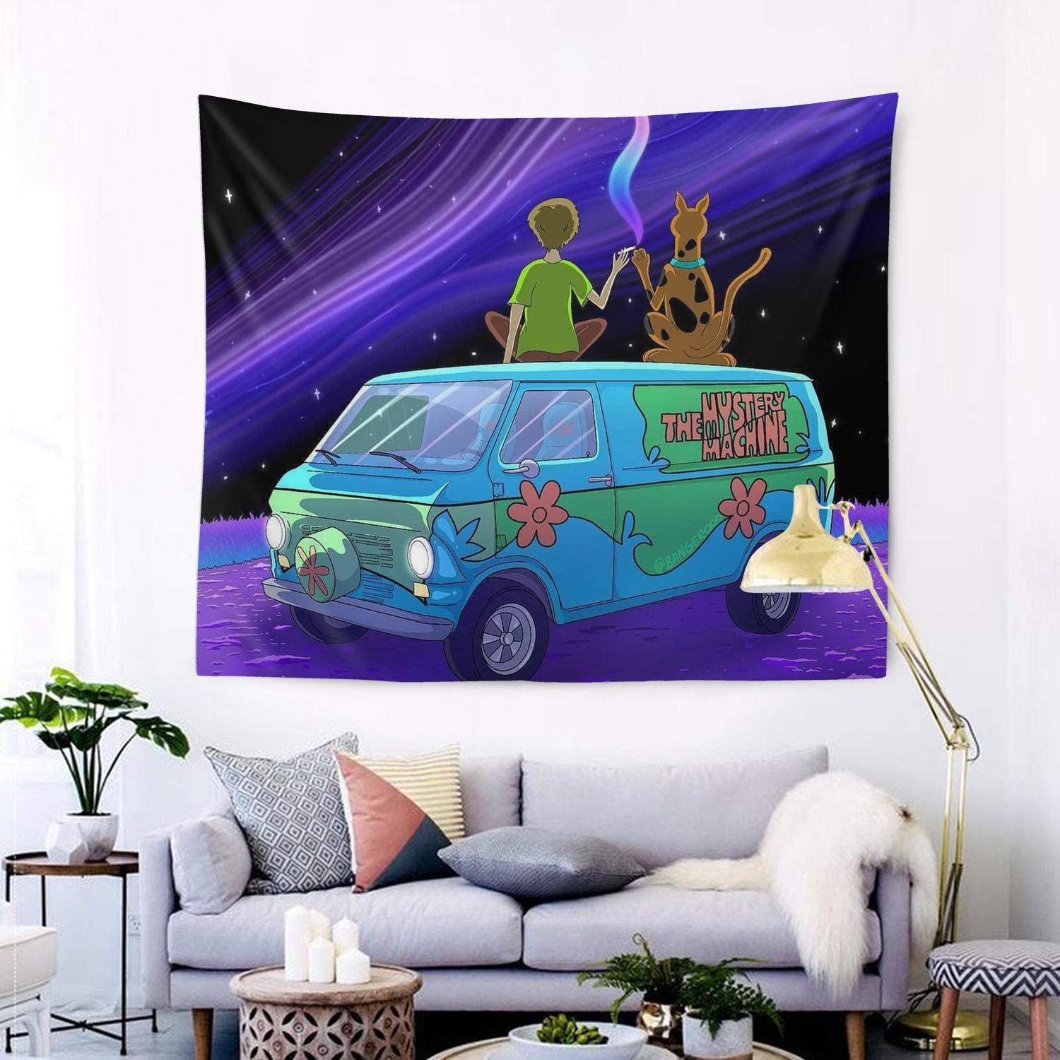 YEASHEER Scooby Doo Tapestry Wall Hanging Living Room,Sofa Table Bed,Decor Blanket 60 X 51 in