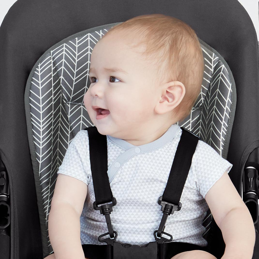 Skip Hop Stroll-and-Go Cool Touch Stroller Liner, Grey Feather by Skip Hop (Image #9)