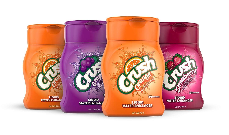 Crush, Variety Pack, Liquid Water Enhancer – New, Better Taste! (4 Bottles, Makes 96 Flavored Water Drinks) – Sugar Free, Zero Calorie