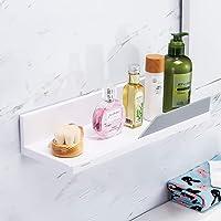 YOHOM White Floating Shelf Adhesive Bathroom Wall Storage Shelf No Drilling Display Ledge Shelf Organizer for Shower…