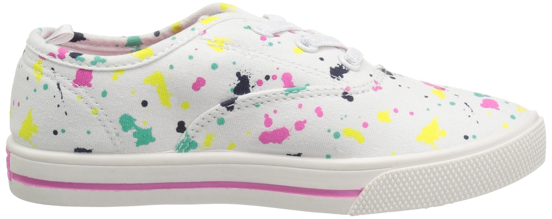 Carter's Piper Girl's Casual Sneaker, White/Print, 3 M US Little Kid by Carter's (Image #7)