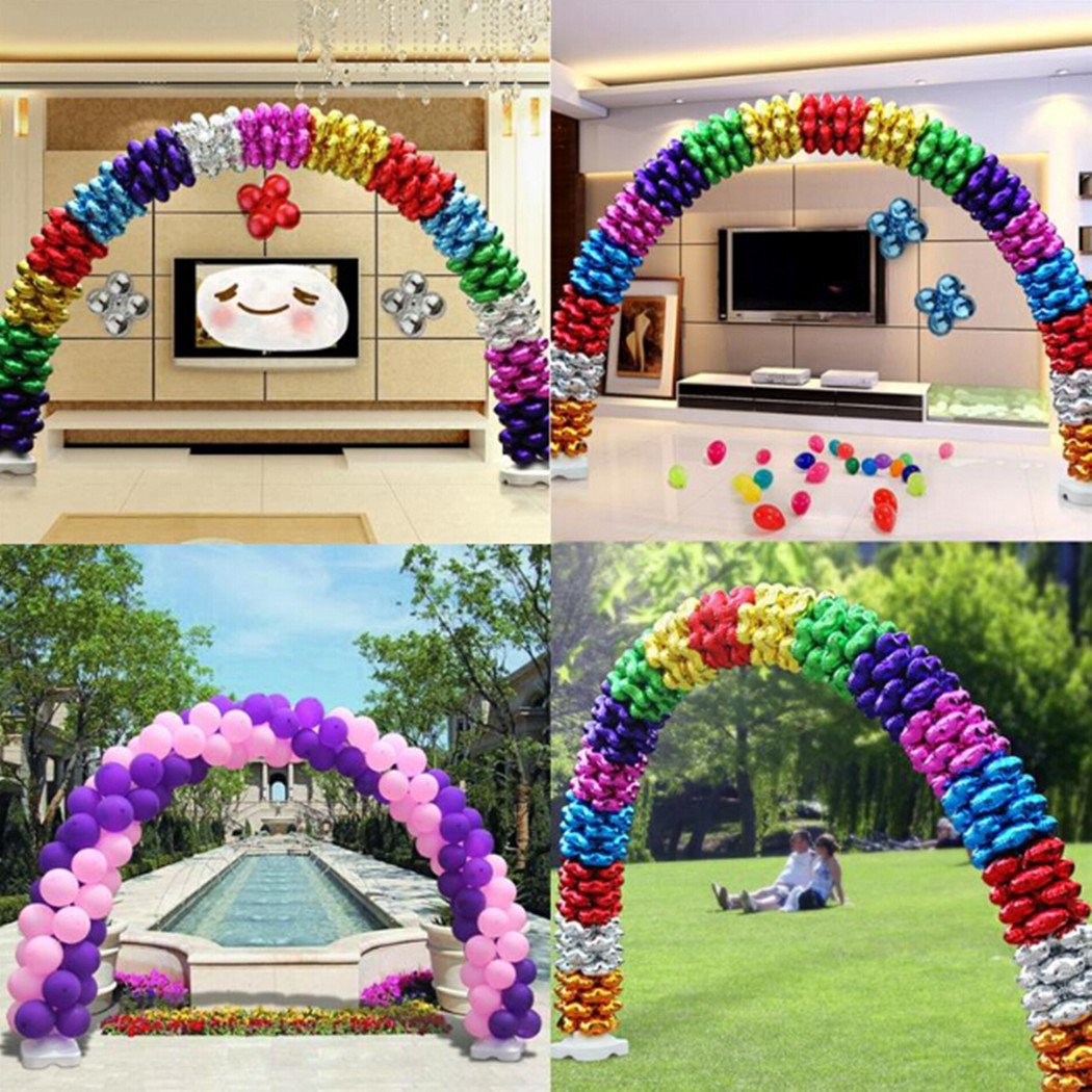 Amon Tech Balloon Arch Kit Plastic Balloon Column Stands with Bases, Poles, Balloon Rings for Birthday, Wedding, Events, Party Decoration Balloon Arch Kits by Amon Tech (Image #3)