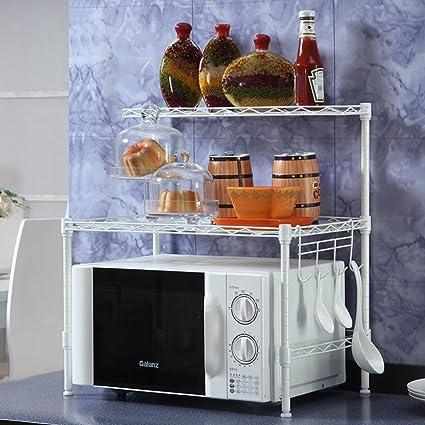 Cocina rejilla del horno microondas/Almacenaje/sazonado/Estante del almacenaje del baño del