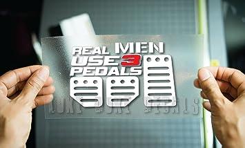 Amazoncom Real Men Use Pedals Sticker Funny JDM Race Car Truck - Custom race car window decalsreal women usepedals sticker funny jdm honda girl race car