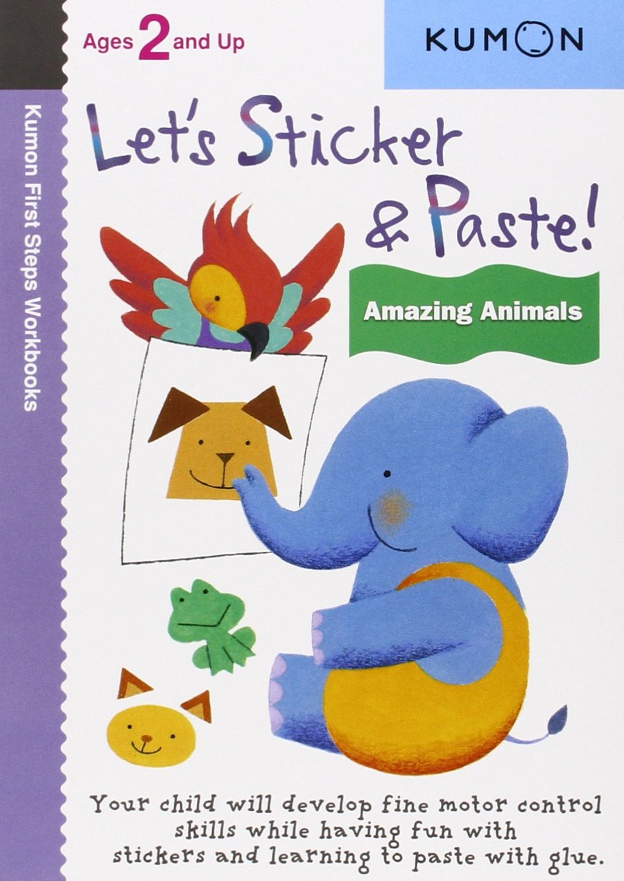 Workbooks buy kumon workbooks : Let's Sticker & Paste: Amazing Animals (Kumon First Steps ...