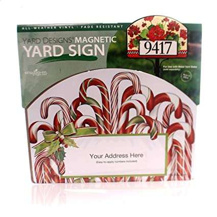 Yard Designs Candy Canes Magnetic Yard Art New