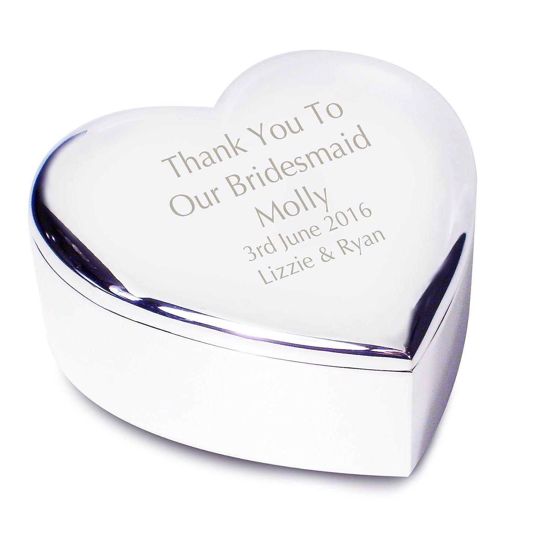 Bridesmaid Heart Trinket - Personalised Laser Engraving
