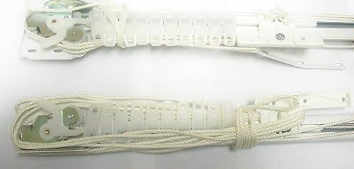 Kirsch 3123 Single Two-Way Draw Traverse Curtain Rod 30-48 inch 025 White