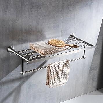 YHJ Handtuchhalter Edelstahl Handtuchhalter Handtuchhalter 60CM Bad Rack 2  Layer Shelf Badezimmer Badezimmer Zubehör