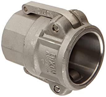 1-1//2 Female Coupler x 1-1//2 Female NPT 316 Stainless Steel USA Sealing Cam and Groove Fitting Type D