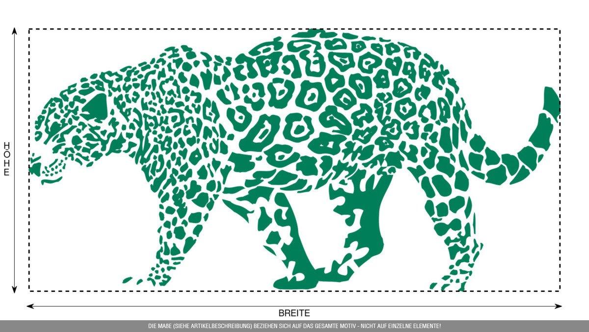 CLICKANDPRINT Aufkleber » Leopard, 150x74,4cm, Türkis • • • Wandtattoo   Wandaufkleber   Wandsticker   Wanddeko   Vinyl B073X7KYXC Wandtattoos & Wandbilder ef41f5