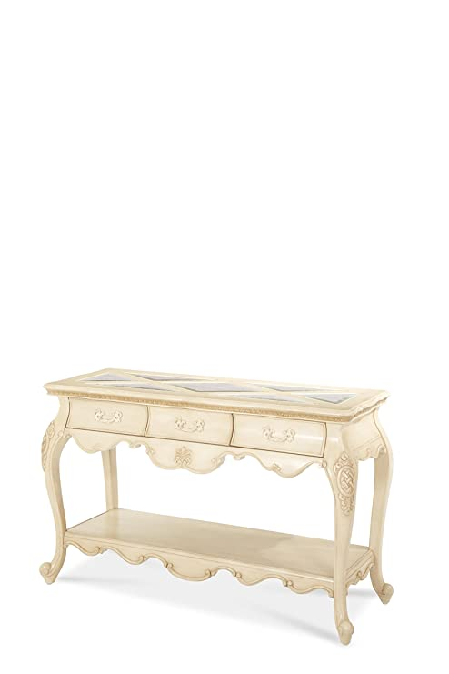 Super Amazon Com Michael Amini Lavelle Console Table Blanc Cjindustries Chair Design For Home Cjindustriesco