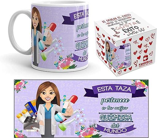 Kembilove Taza de Café de la Mejor Química – Taza de Desayuno para la Oficina – Taza de Café y Té para Profesionales – Tazas de Cerámica de Profesiones para Químicas: Amazon.es: Hogar