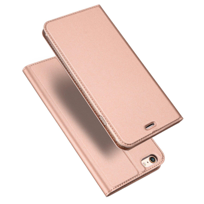 iPhone 6s / 6ケース、JaortyクラシックPUレザーウォレットケーススリムフォリオブックカバー(クレジットカードスロット付き)、キャッシュポケット、スタンドホルダー、iPhone 6s / 6用マグネットクロージャー(4.7インチ) - ピンク   B07595TW7K