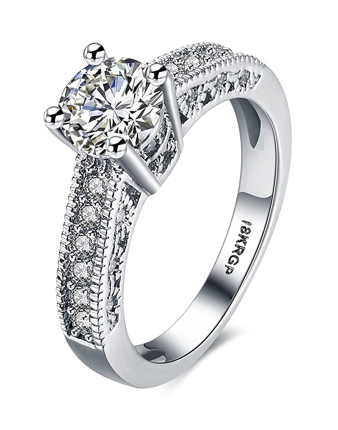 karatcart Platinum Plated Austrian Crystal Ring for Women(Silver)