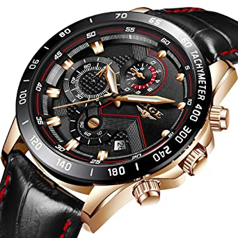 a99c0d1c5da Mens Watches Luxury Brand LIGE Fashion Casual Sports Analog Quartz Watch  Men Chronograph Waterproof Luminous Black