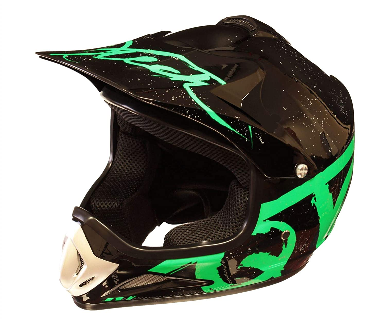 Small Qtech Childrens KIDS MOTOCROSS MX Style Helmet BMX Quad Bike Q101 Orange
