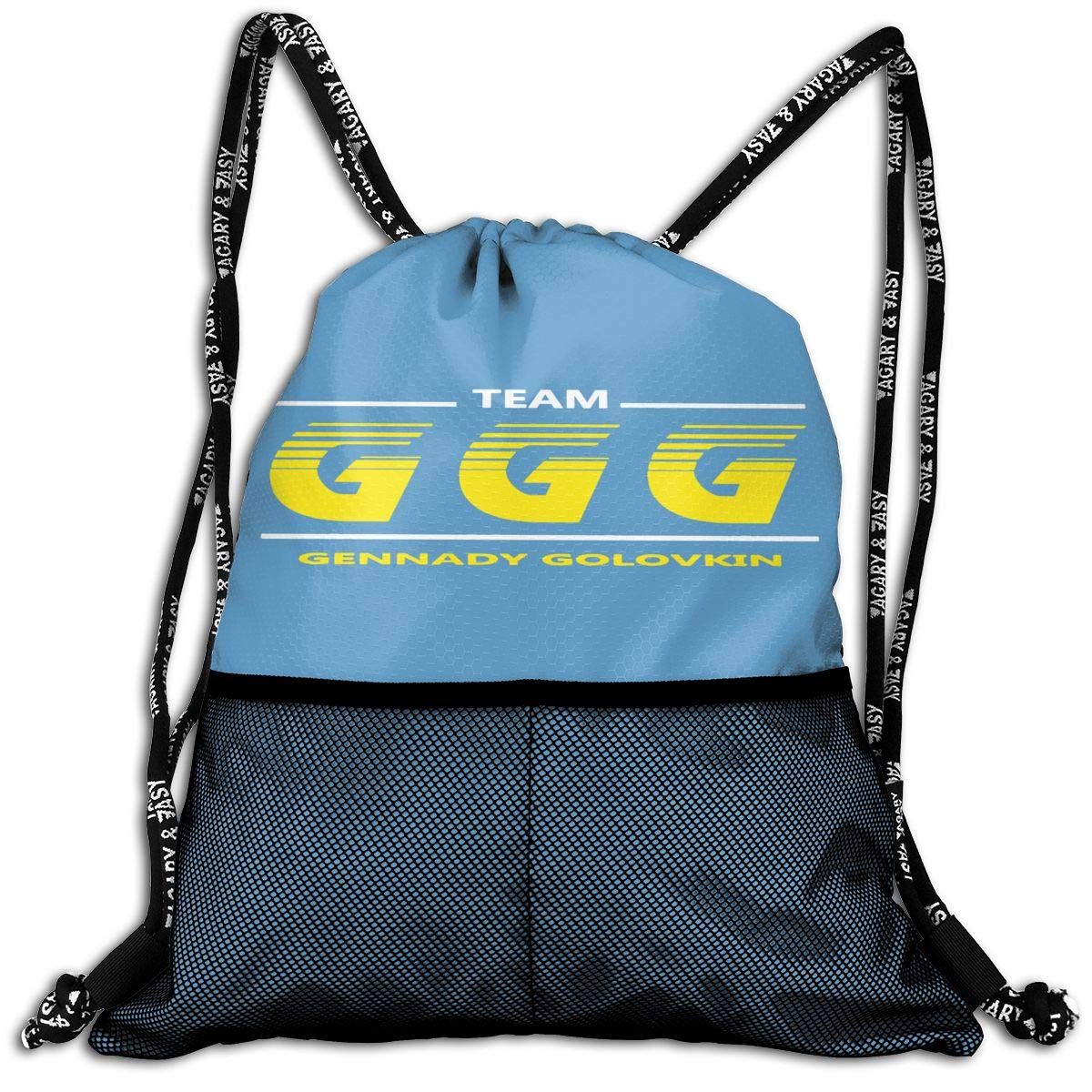 Drawstring Backpack Gennady-Golovkin Logo Sport Gym Hiking Yoga Travel Beach Bundle Backpack