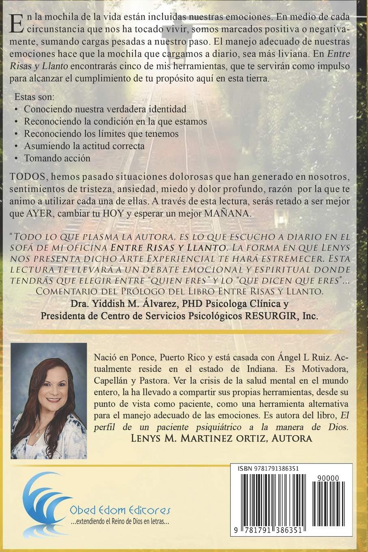 Entre Risas y Llanto: Mis herramientas para el manejo de la montana rusa de las emociones (Spanish Edition): Lenys M Martinez: 9781791386351: Amazon.com: ...