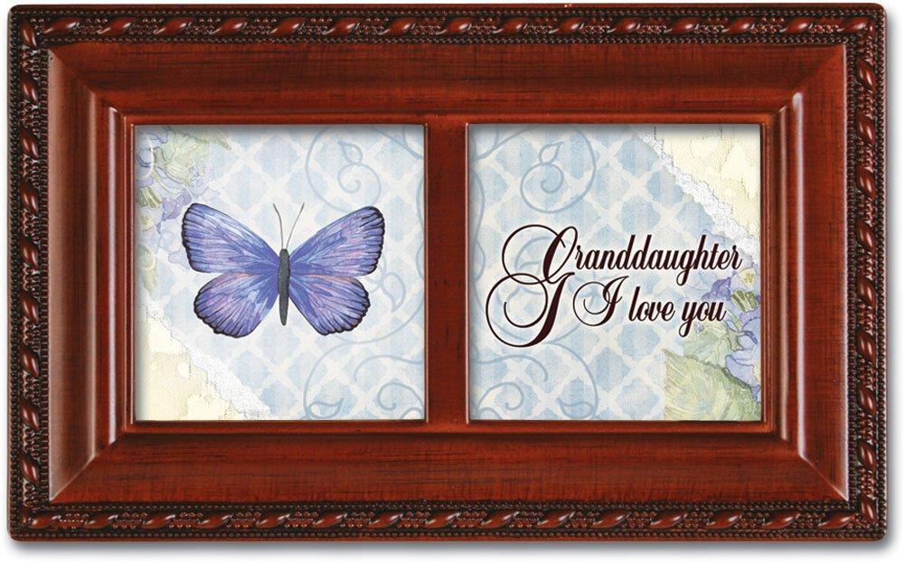 Cottage Garden Granddaughter Petite Woodgrain Music Box Plays Light Up My Life