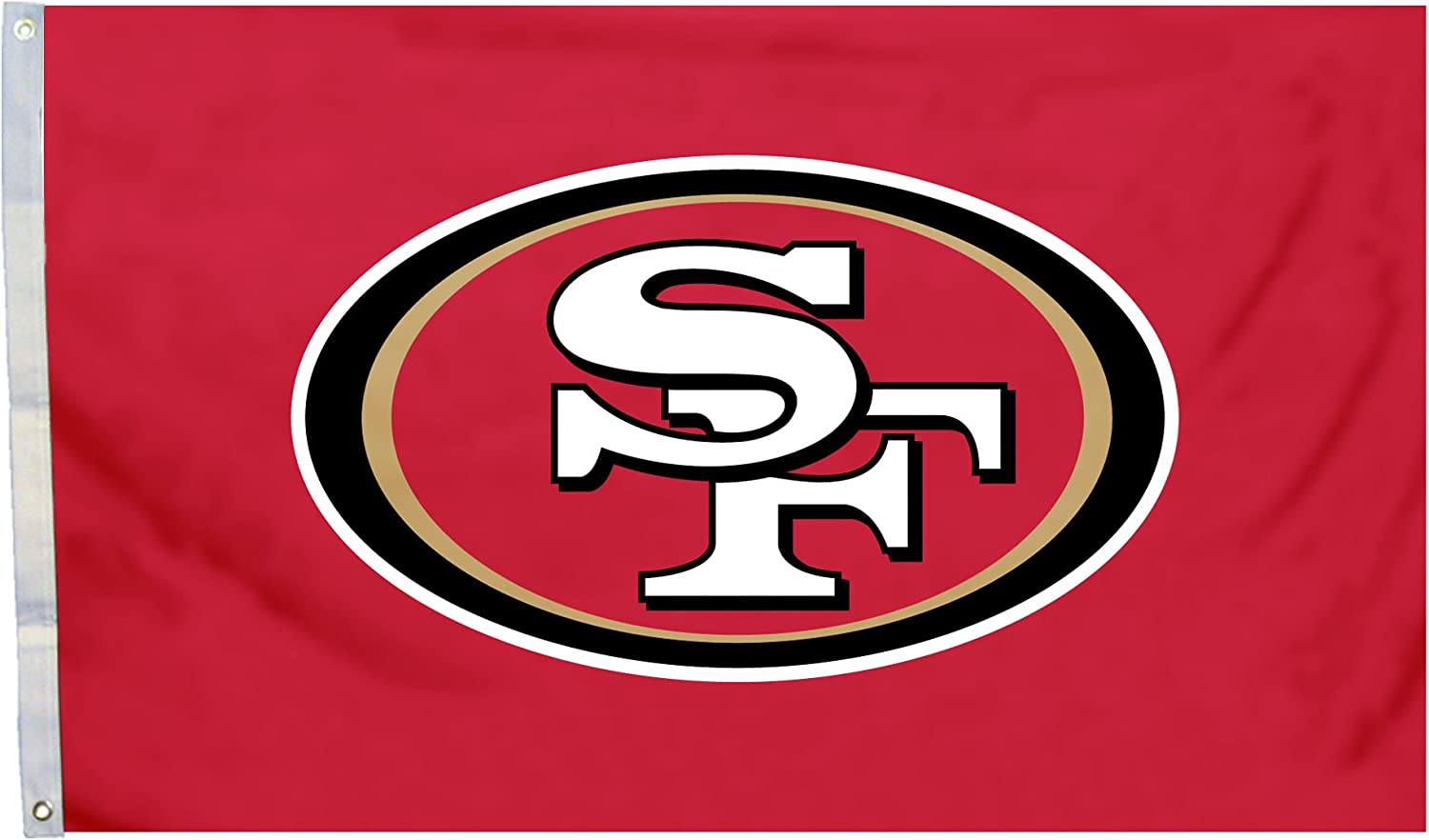 Fremont Die NFL San Francisco 49ers 3' x 5' Flag with Grommets, 3 x 5-Foot, Logo