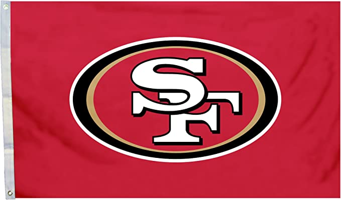 Amazon Com Fremont Die Nfl San Francisco 49ers 3 X 5 Flag With Grommets 3 X 5 Foot Logo Sports Fan Outdoor Flags Sports Outdoors