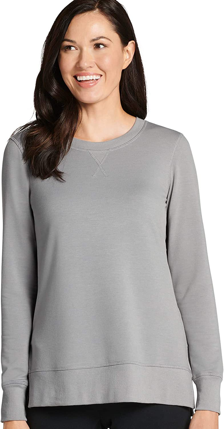 Jockey Womens Tops Cozy Lightweight Sweatshirt