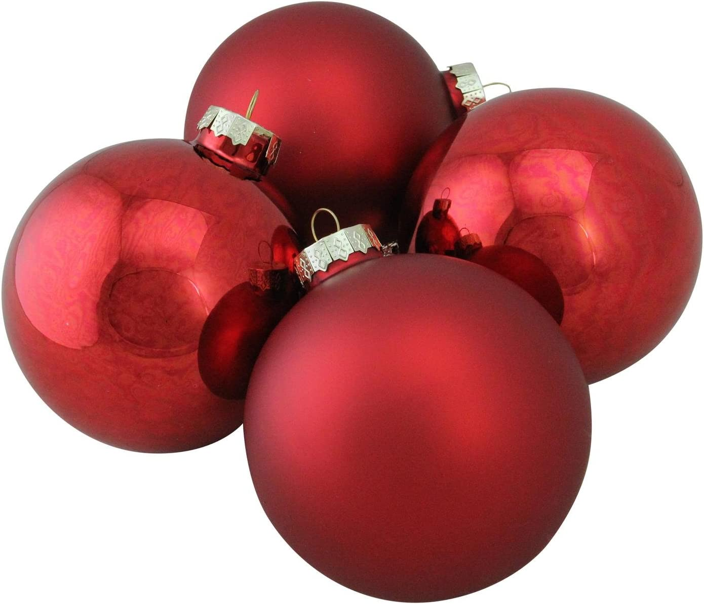 """8ct Pack 2.6/"""" Balls Many Colors New! Glass Christmas Bulbs Holiday Ornaments"""