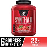 BSN SYNTHA-6 Whey Protein Powder, Micellar Casein, Milk Protein Isolate Powder, Strawberry Milkshake, 48 Servings (Package May Vary)