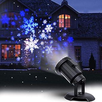 Amazon.com: Christmas Projector Lights LED White Blue Rotating