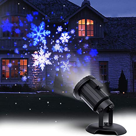 Possible Snowstorm On Christmas 2020 Amazon.com: Christmas Projector Lights LED White Blue Rotating