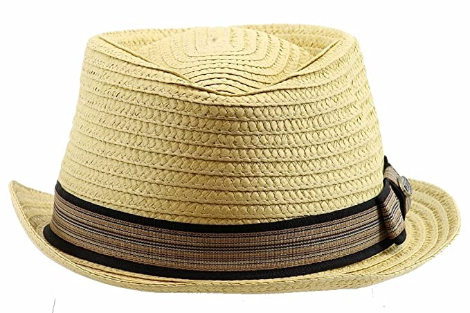 d41bc6fb12e Image Unavailable. Image not available for. Color: Dorfman Pacific Men's  Braided Diamond Crown Trilby Hat ...
