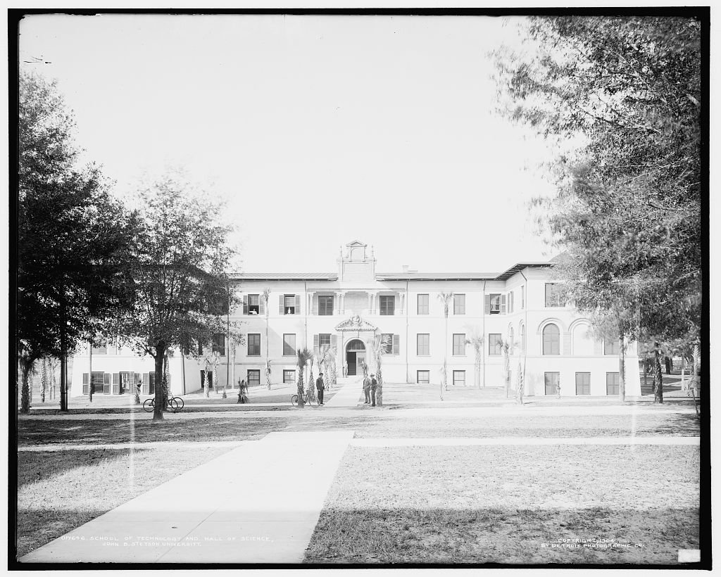 Vintography 24 x 30 Giclee Unframed Photo School Technology Hall Science John B Stetson University 1904 Detriot Publishing co. 90a