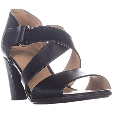 ceca1bfc0284 Amazon.com | Naturalizer Lindy Heeled Open Toe Sandals, Silver Frost ...