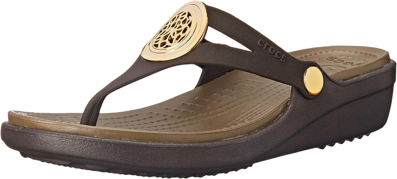 Crocs Sanrah Wedge Sandal Espresso Walnut