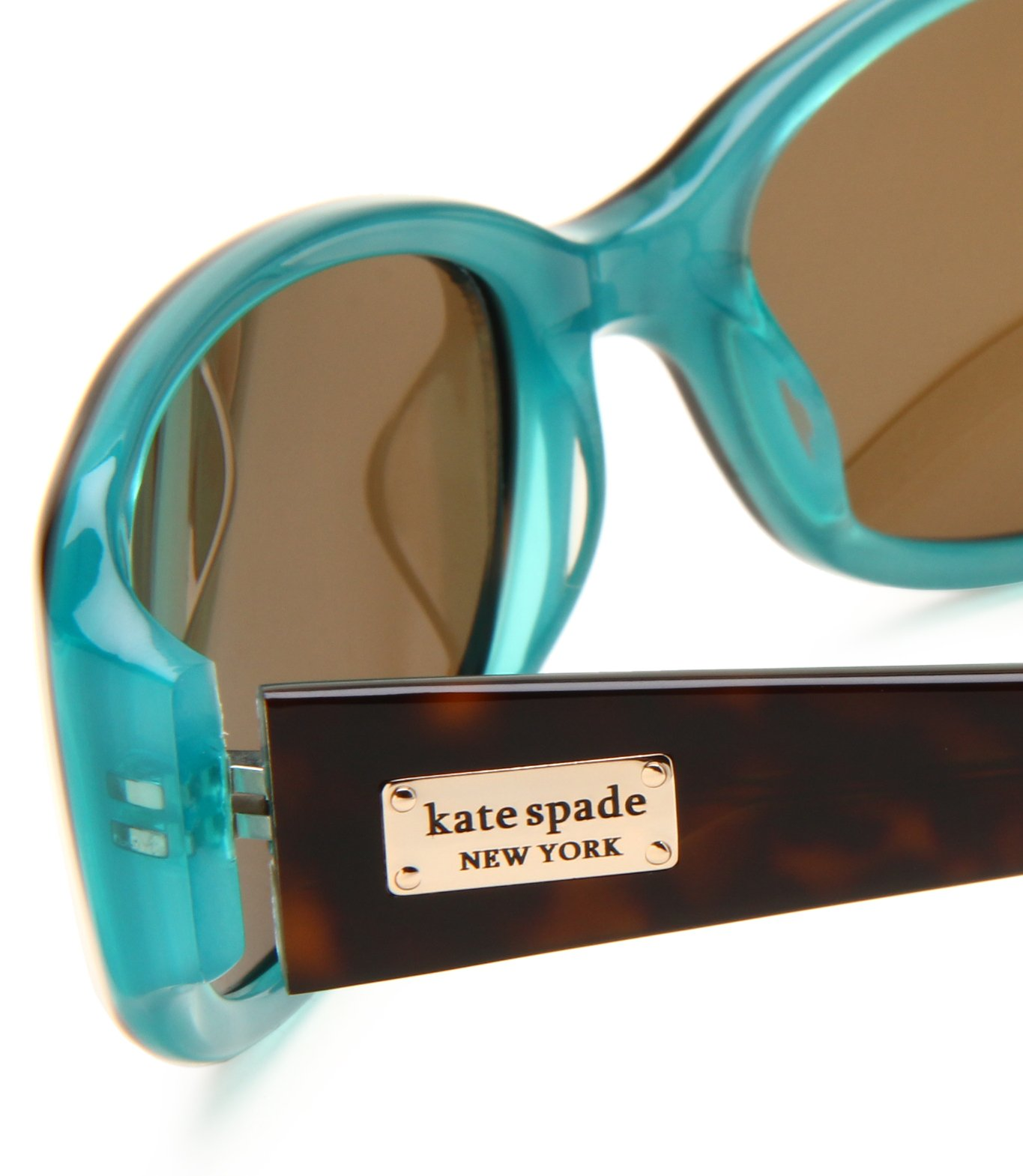 Kate Spade Women's Paxton/S Rectangular Sunglasses,Aqua Tortoise Frame/Brown Polarized Lens,one size by Kate Spade New York (Image #4)