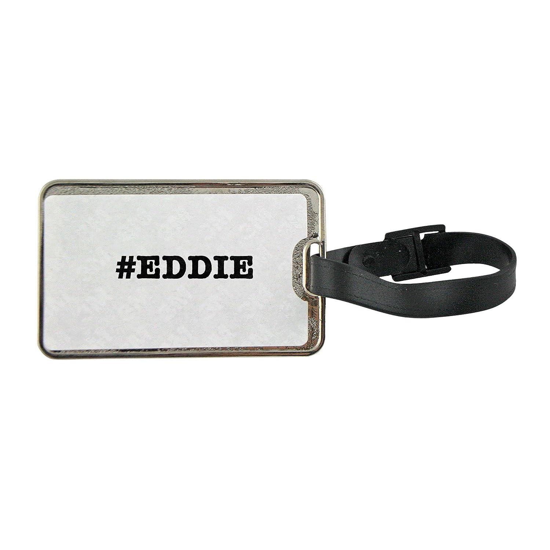 Fotomax Nicknames Eddie Nickname Hashtag Metal Luggage tag