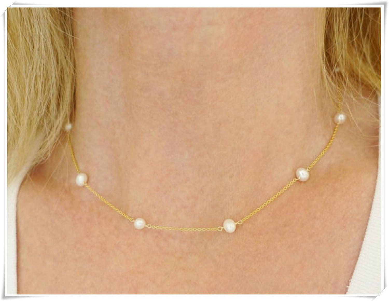 Collar de perlas collar de perlas de agua dulce,