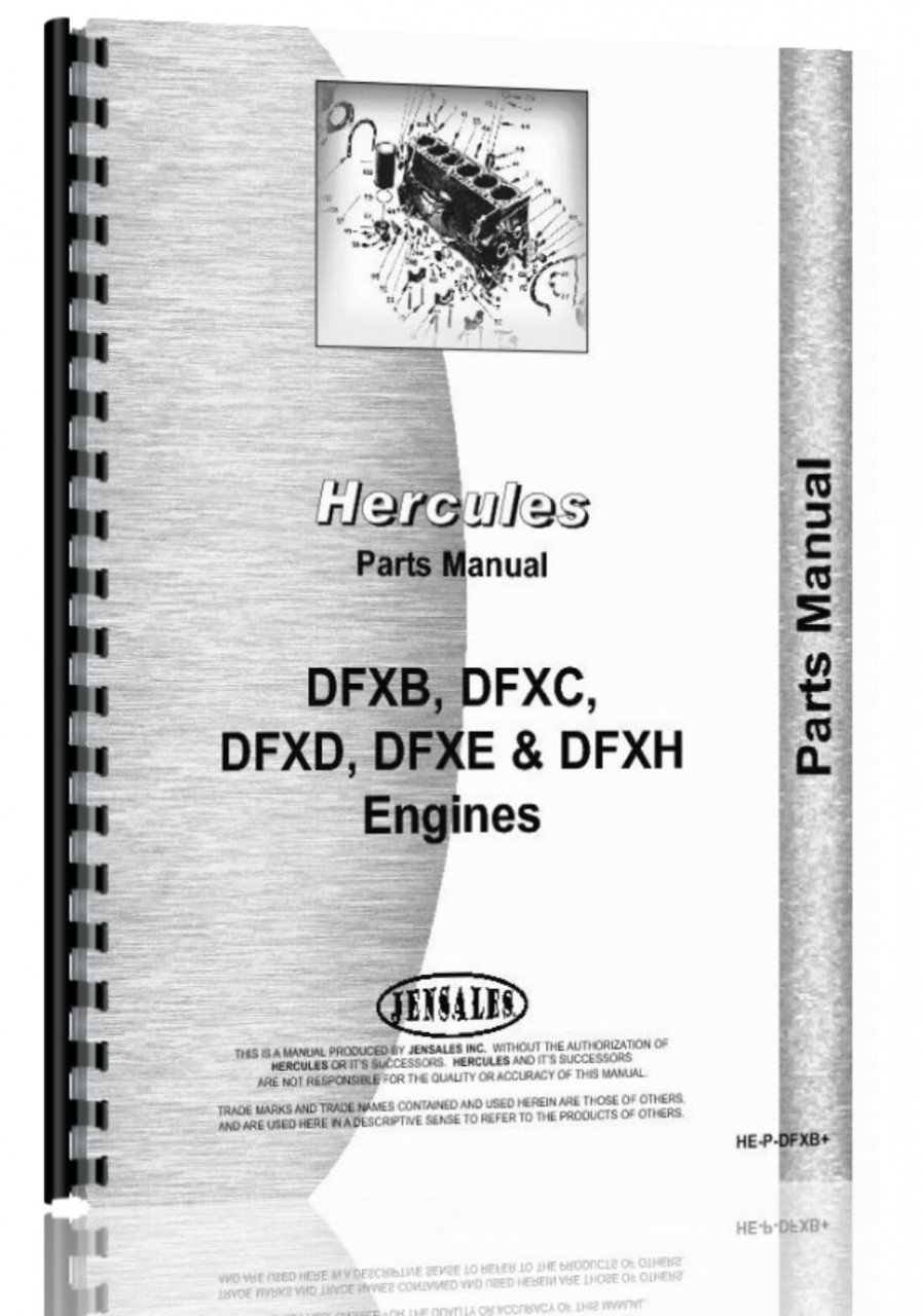 Read Online Hercules Engines DFXC Engine Parts Manual pdf