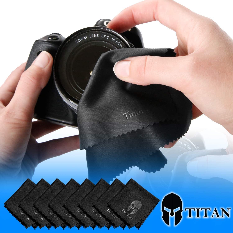 Titan Fiber Lens Cloth 8 Pack Microfiber Camera Lens Cloth Glasses Cleaning C...