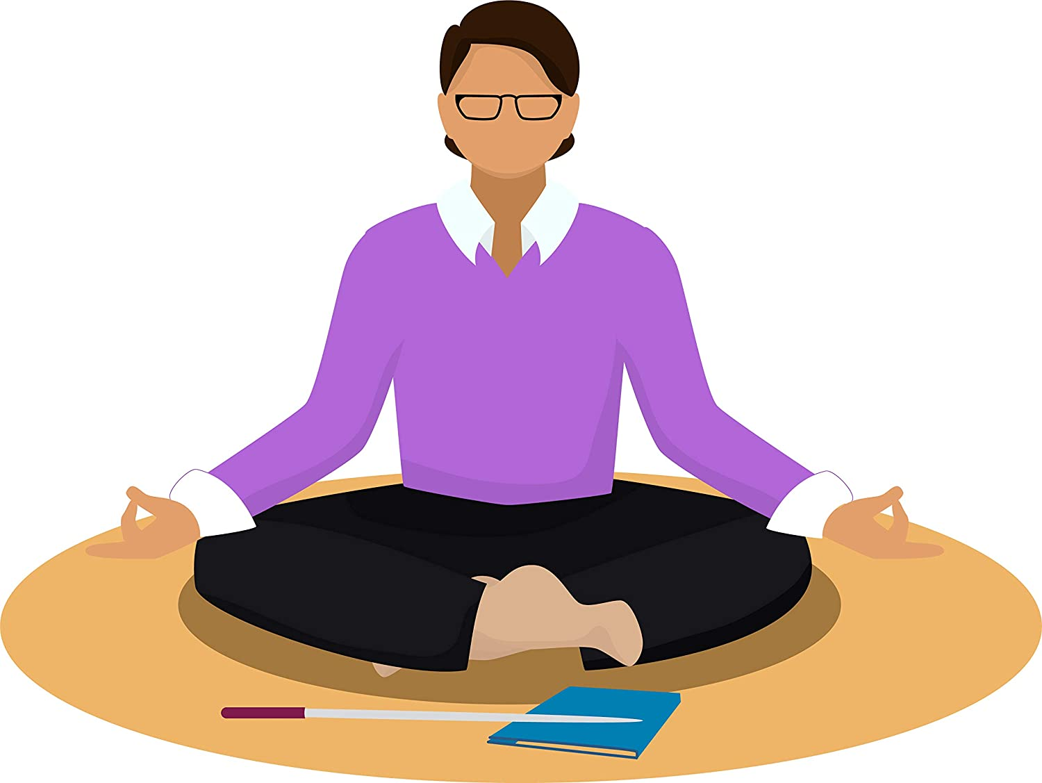 Amazon Com Simple Yoga Studio Pose Peaceful Meditation Unwind Cartoon Vinyl Sticker 4 Wide Professor Automotive