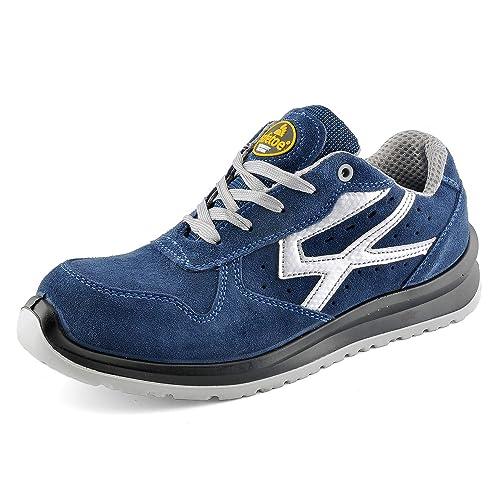 90e66db5 Zapatos de Seguridad para Hombres con Puntera de Fibra de Vidrio - SAFETOE  7328 Zapatillas Ultra-Ligeras Azul: Amazon.es: Zapatos y complementos