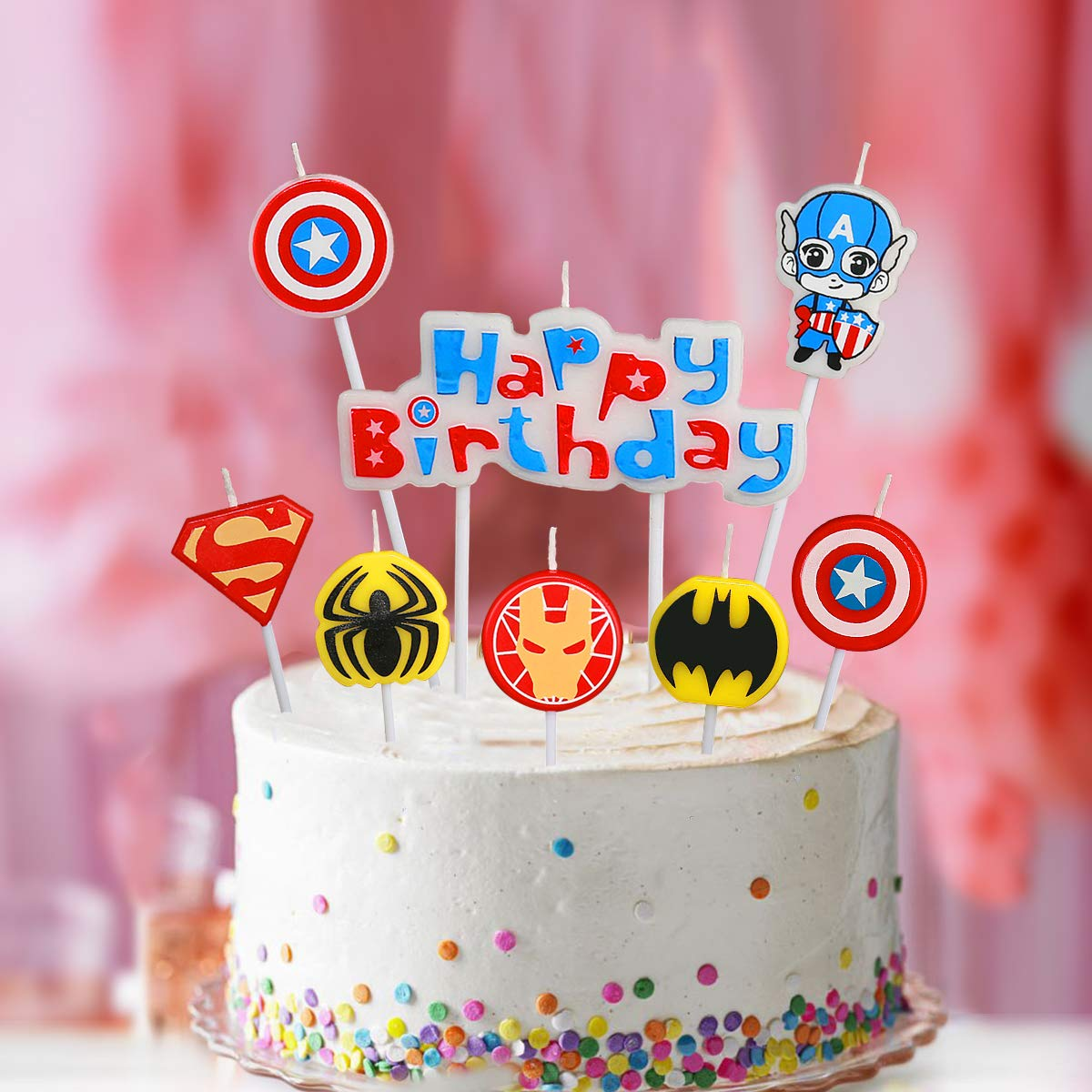 Amazon Pinkblume Happy Birthday Decorative Cake Candle Set For