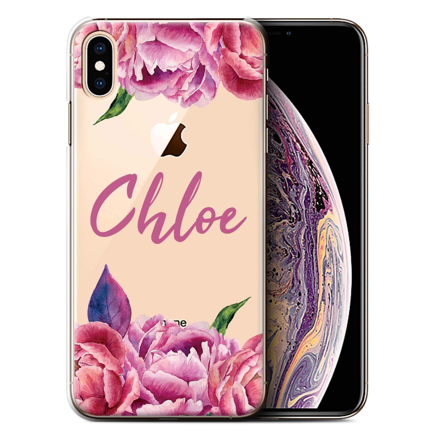 check out 454a2 196fb Amazon.com: Personalized Custom Floral Transparent Case for Apple ...