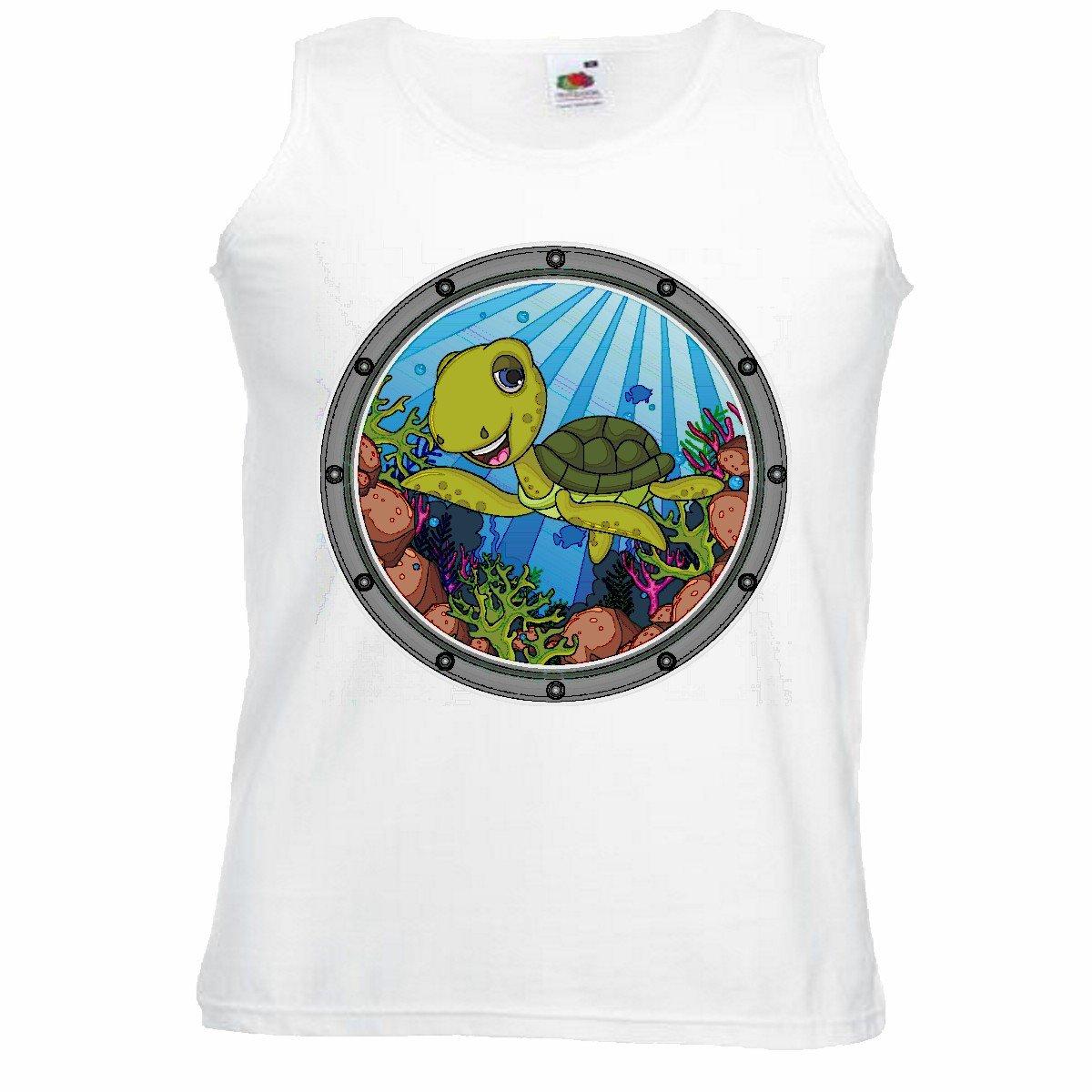 Camisa del músculo Tank Top Tortuga de Agua en el océano ...